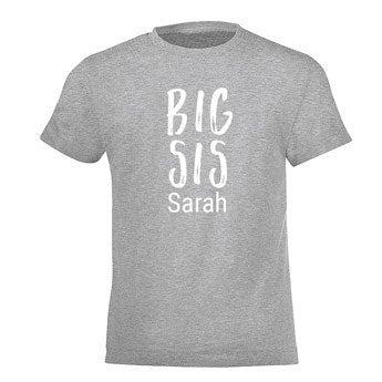 Familie T-shirt - Børn - Grå - 8år