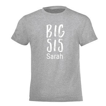 Familj T-shirt - Barn - Grå - 8år