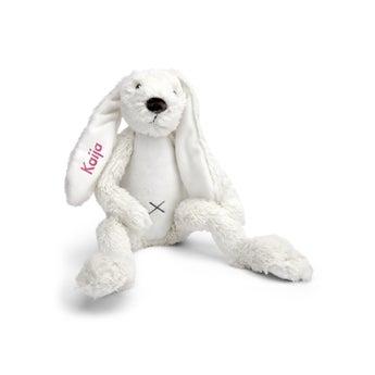 Rabbit Richie -pehmolelu nimellä - 38 cm - Beige