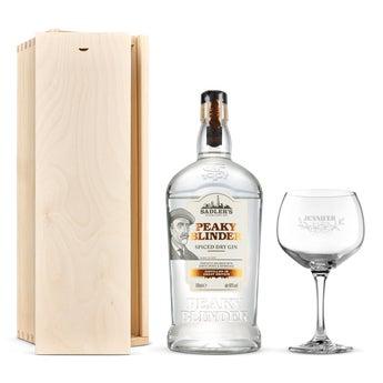 Gin gift set - Peaky Blinders (engraved case)