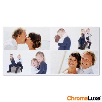 Chromaluxe Aluminium photo - Brushed - 60x30cm