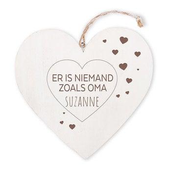 Oma - houten hart