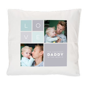 Father's Day cushion - White