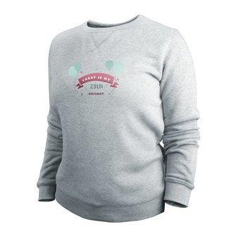 Pullover Damen bedrucken - Grau - L