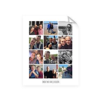 Papa en ik - Foto collage poster (40x50)