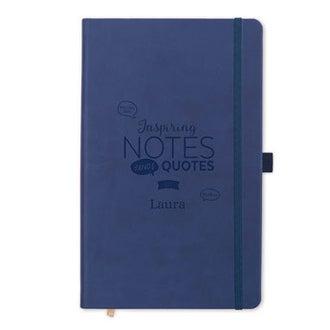 Notebook s názvem - modrá