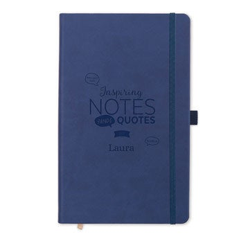 Notitieboek met naam - Blauw