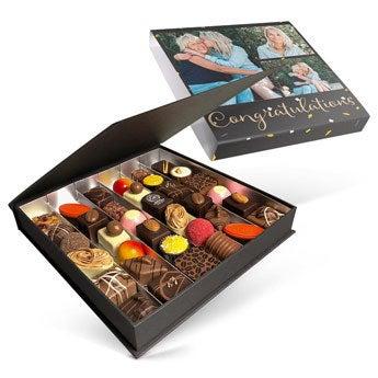 Chocolates em caixa de presente de luxo - 36 chocolates