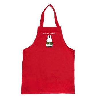 Delantal para niños miffy - Rojo