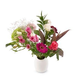 Bouquet de fleurs roses