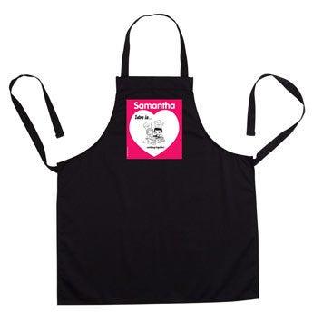 Kärlek är .. kök förkläde - svart