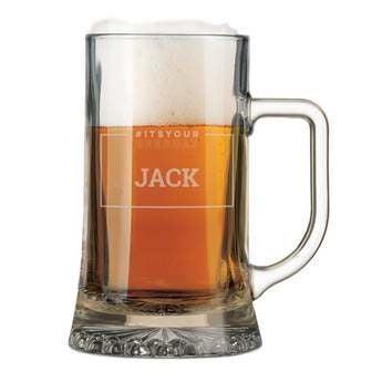 Skleněná hrnek na pivo