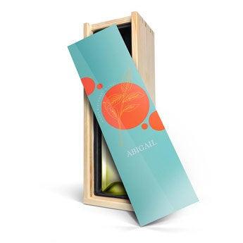 Vinho com caixa personalizada - Riondo Pino Grigio