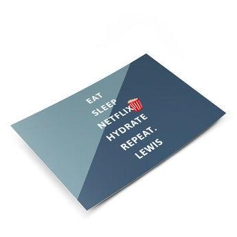 Tarjeta postal con foto - ¡Qué te mejores!