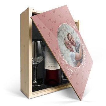 Salentein Malbec con coperchio in vetro e stampato
