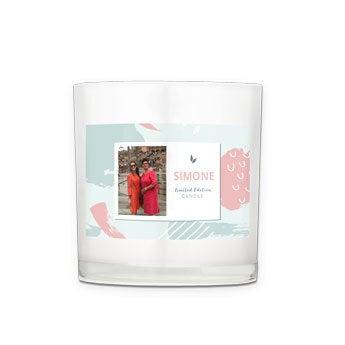 Kerze im Glas selber gestalten - 10x10x10 cm