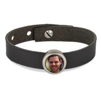 Photo charm bracelet - Black - 1 photo