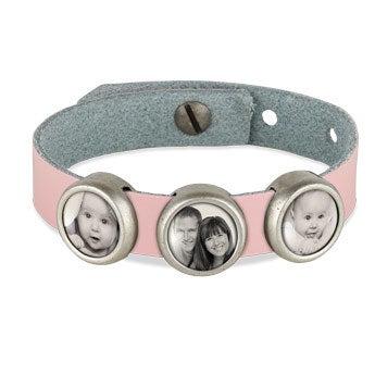 Photo charm bracelet - Pink - 3 photos