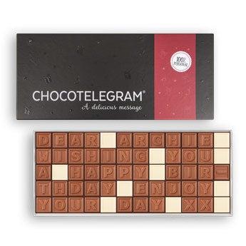 Choklad meddelande - 60 bokstäver
