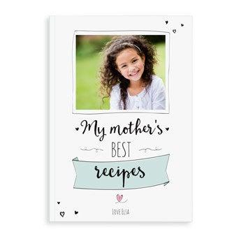 Livro de receitas do Dia das Mães - A4 - Softcover