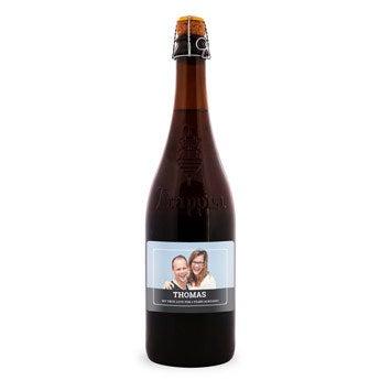 La Trappe Quadrupel øl - Brugerdefineret etiket