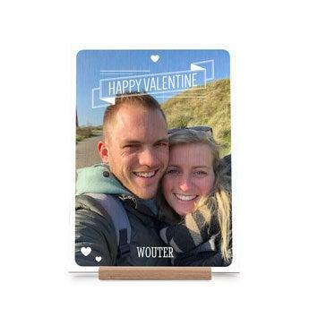 Houten valentijnskaart - Verticaal
