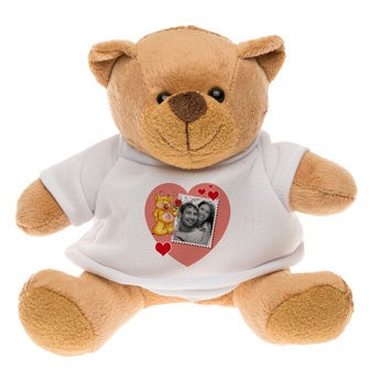 Personalised cuddly toy with photo - Doodles - Bertie Bear