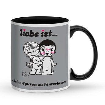 Tasse Schwarz - Liebe ist ...