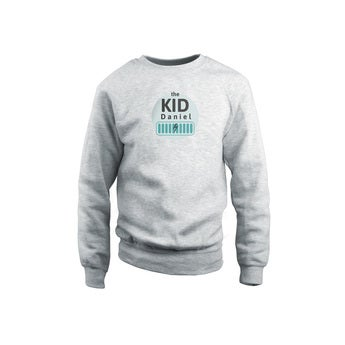 Sweatshirt personalizada - Crianças - Cinza - 2 anos