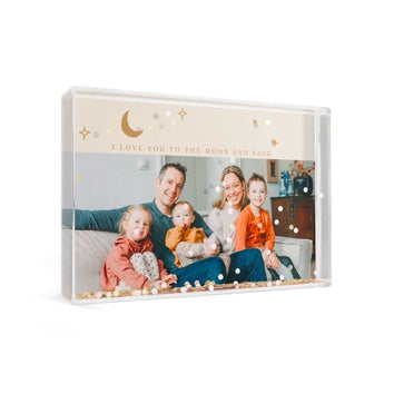 Cube photo plexiglas - Confetti