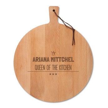 Dřevěná deska na sýr - bukové dřevo - kulaté (M)