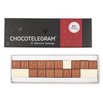 Sjokolade telegram - 20 tegn