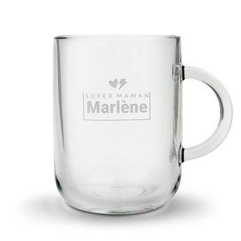 Tasse à thé gravée - Fête des Mères - ronde