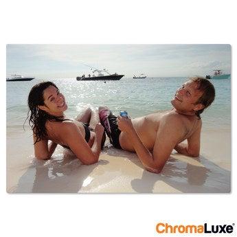 Chromaluxe Aluminium foto - Hvid - 30x20 cm