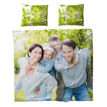 Tryckta sängkläder - Bomull - 240x200cm