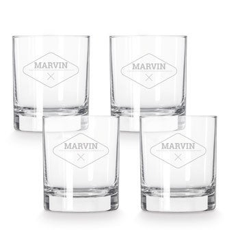 Whiskey glass - 4 pieces