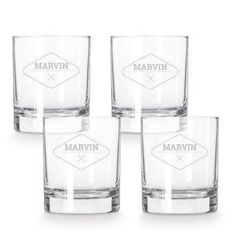 Whiskyglas mit Gravur (4 Stück)