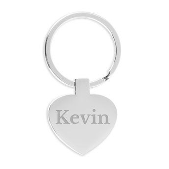 Key ring with name - Heart