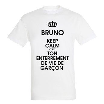 T-shirt - Homme - Blanc - XL