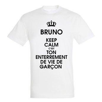 T-shirt - Homme - Blanc - XXL