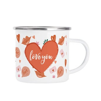 Mug en émail personnalisé - Saint Valentin