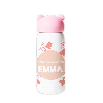 Personalised water bottle for kids - Pink
