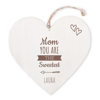 Mother's Day - wooden heart