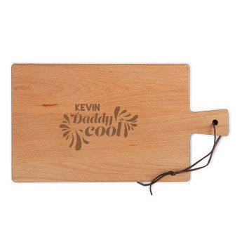 Father's Day wooden Breadboard