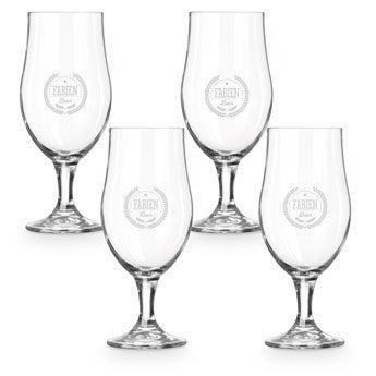 Pivní sklenice pěšky - sada 4