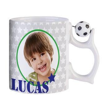 Taza de fútbol - Con foto