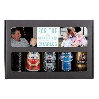 Conjunto de presente de cerveja de vovô