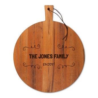 Dřevěná deska na sýr - Teak - kulatá (M)
