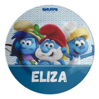 The Smurfs plates