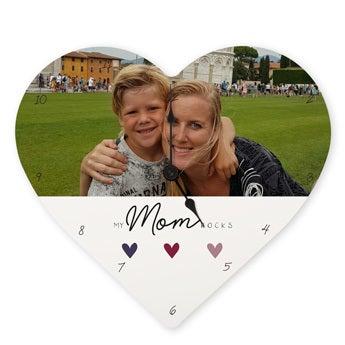 Zegar serce na Dzień Matki